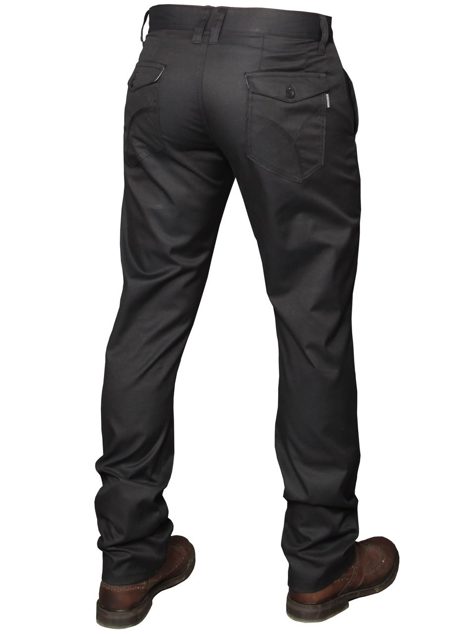 Mens Black Straight Jeans